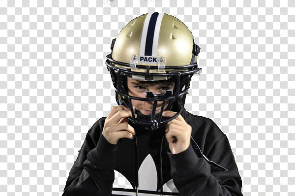 Boy wearing adidas hoodie and gray helmet transparent.