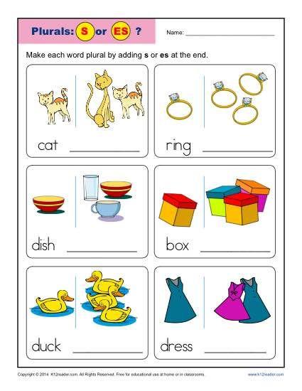 Kindergarten Worksheets.
