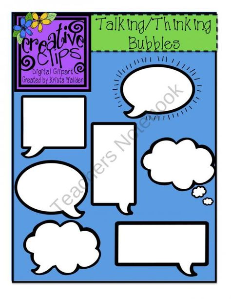 Talking n Thinking Bubbles from Creative Clips Clipart on.