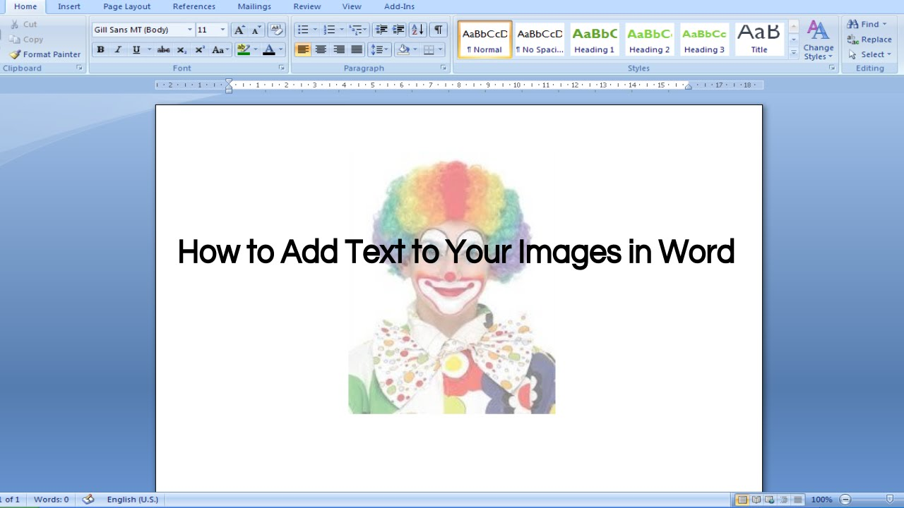 Adding Text to Your Images in Word.