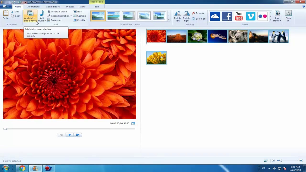How to Add Pictures and Videos to Windows Movie Maker.