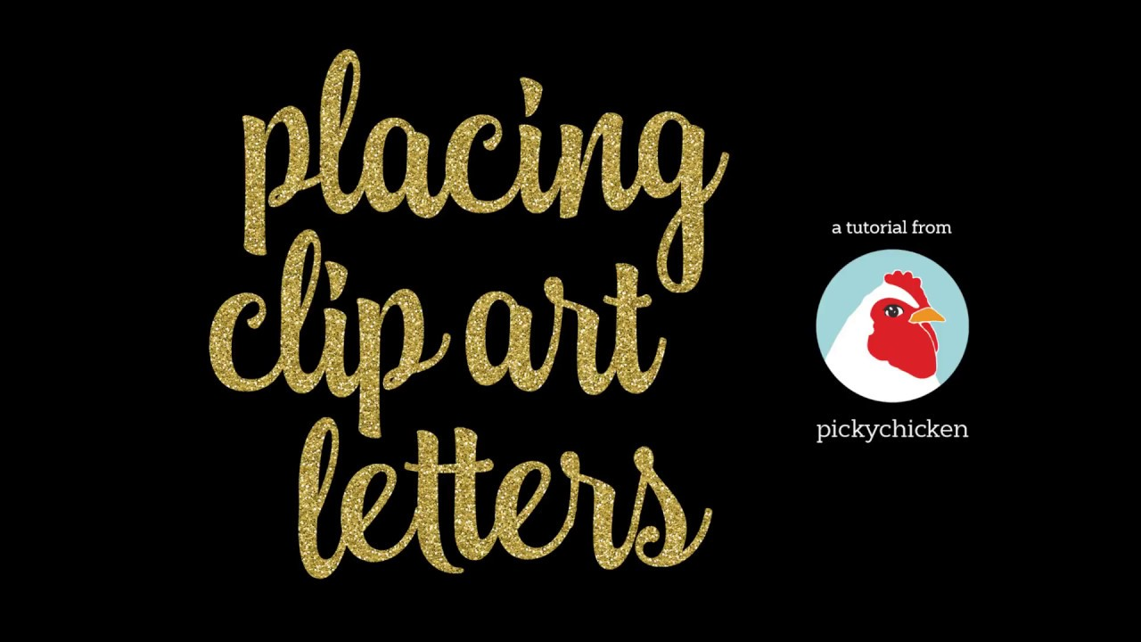 Adding clipart letters in Photoshop.
