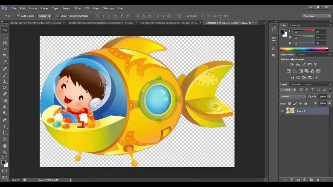 How to create cliparts in photoshop {very easy trick }.