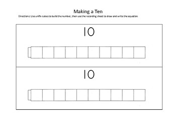 Make 10 Using Cubes Worksheets & Teaching Resources.