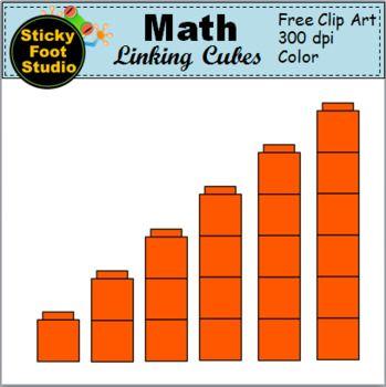 Math Linking Cubes Clip Art.