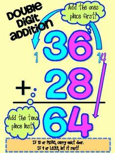 42 Best Double Digit Addition & Subtraction images.