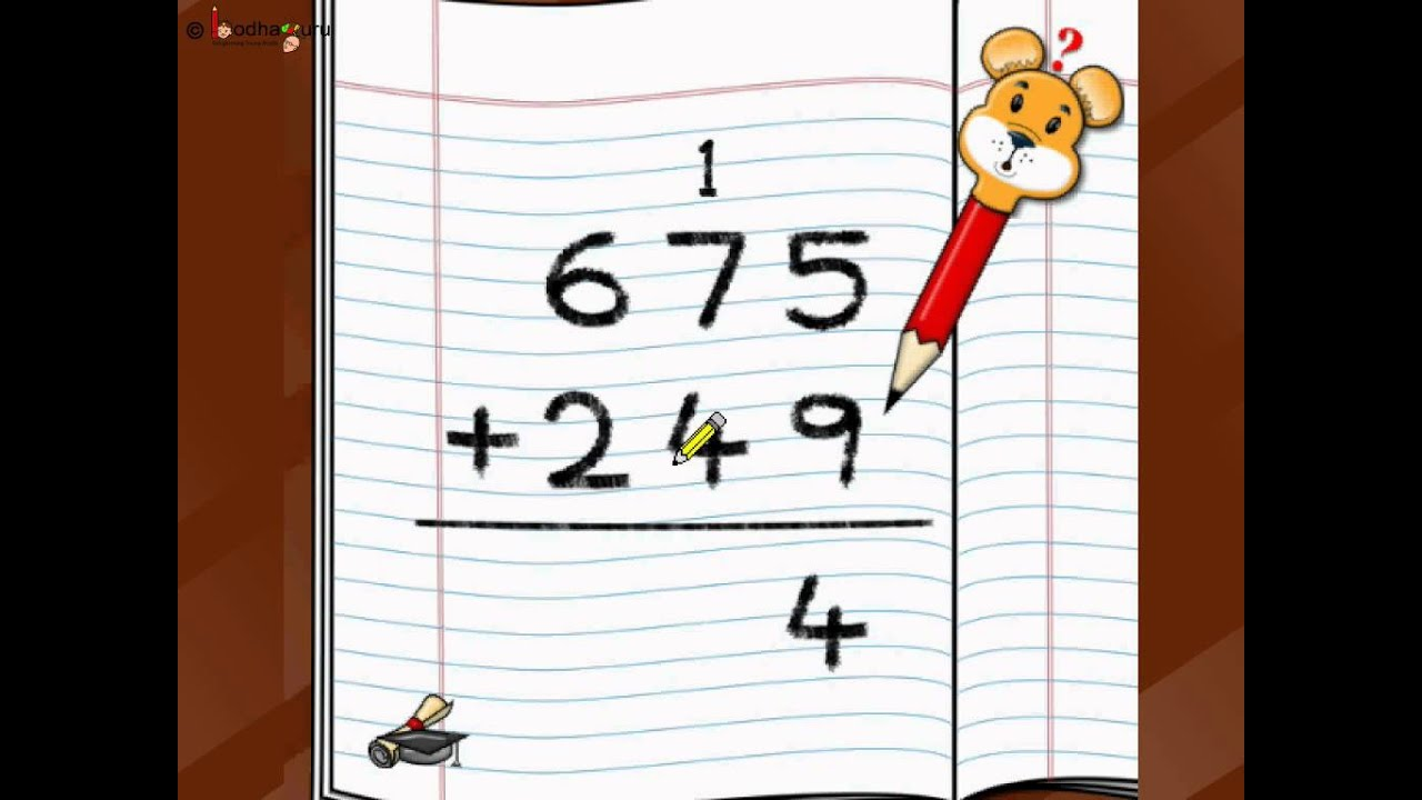 Steps On How To Add Three Digit Numbers.