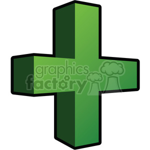 3d addition sign clipart . Royalty.