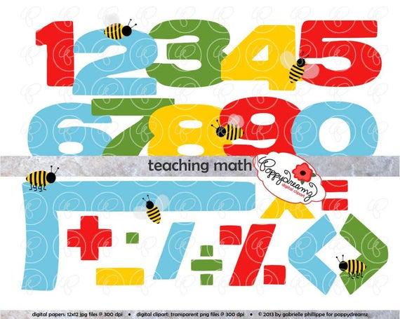 Teaching Math Clipart Set.