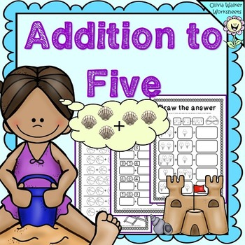 Addition to Five Worksheets, Add Up to 5, First Addition.