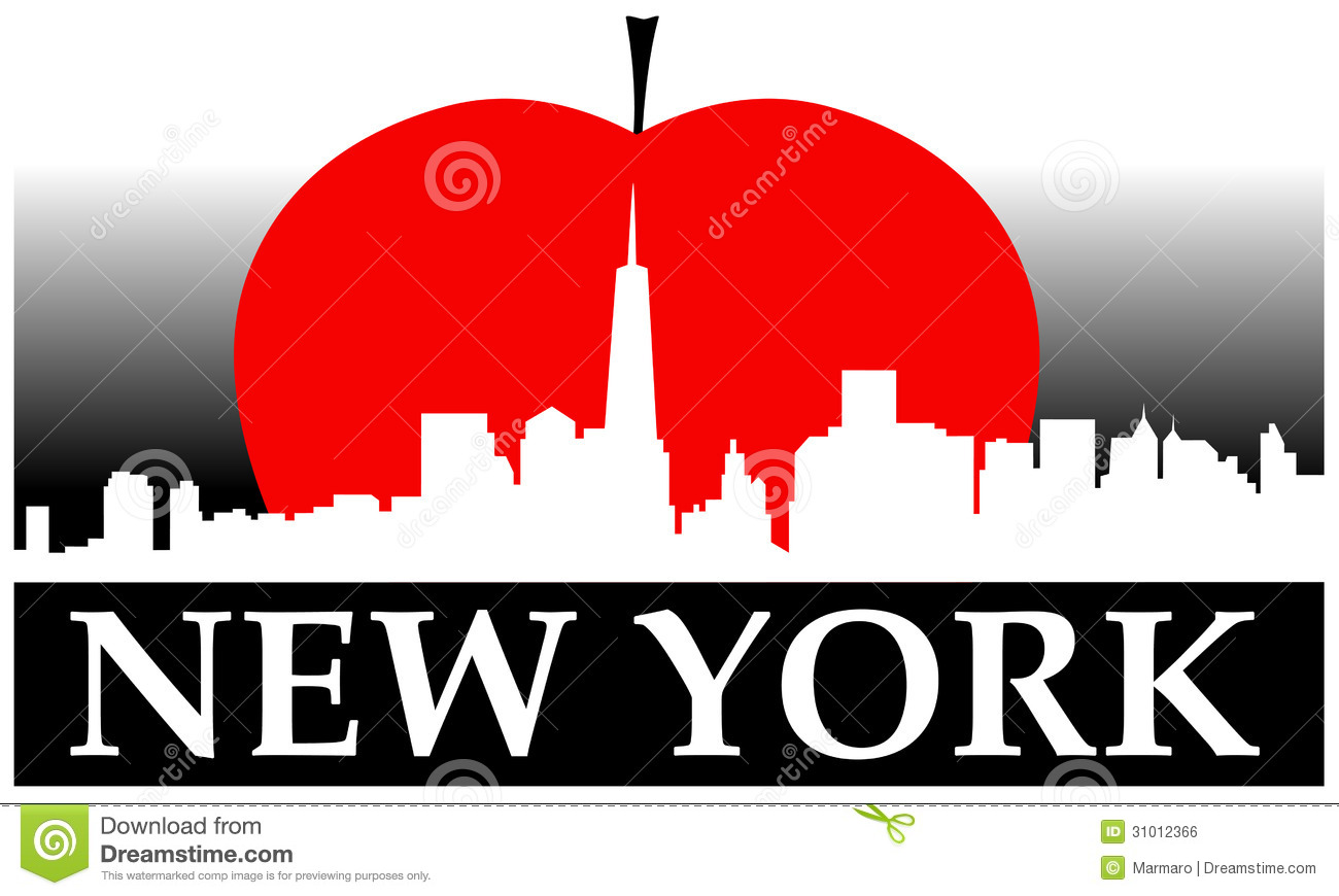 New York Apple Clipart.