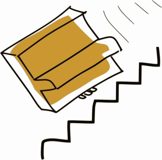 Addon Piano Falls Down Stairs clip art Free vector in Open office.