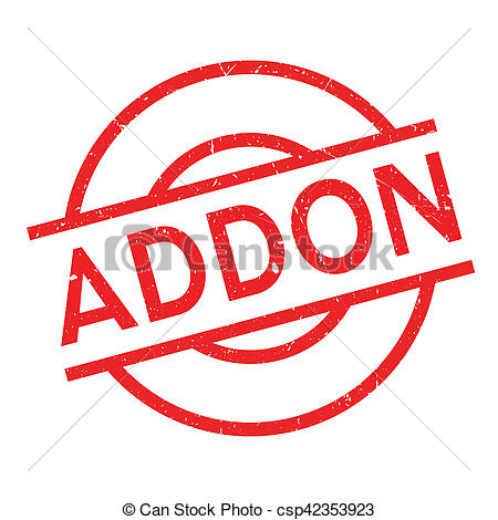 Clip Art of Addon rubber stamp. Grunge design with dust scratches.