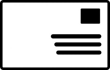 Envelope Addressed Stamp Symbol clip art free vector.
