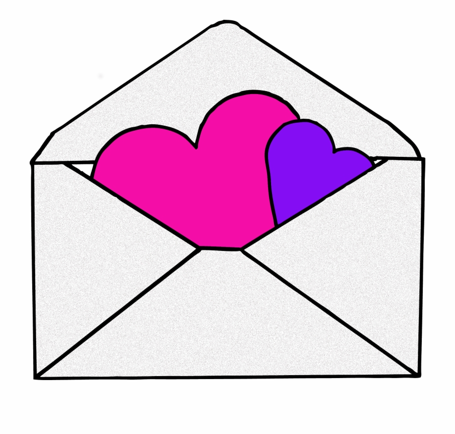 Cute Envelope Png Envelope With Heart Clipart.