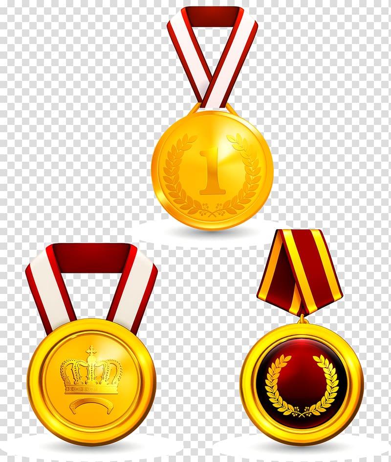 Gold medal Icon, gold medal transparent background PNG.