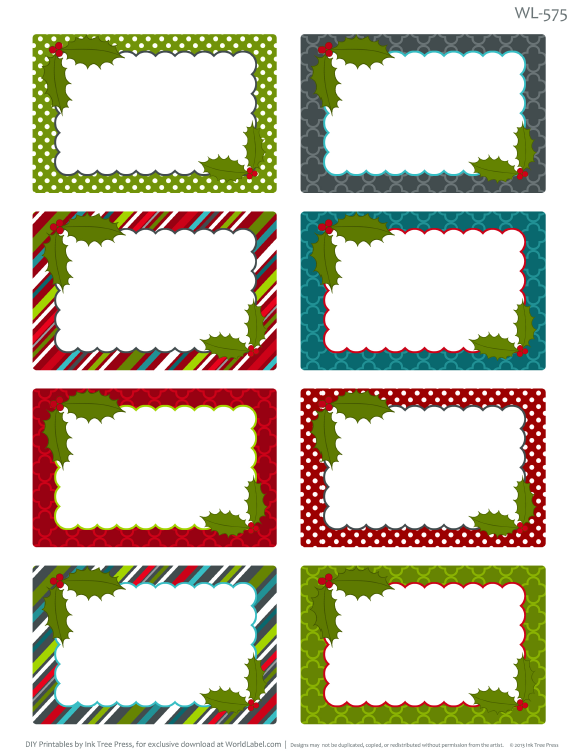 Free Christmas Clipart For Return Address Labels.