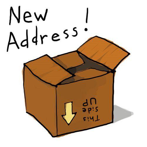 New Address Information Clipart #1.