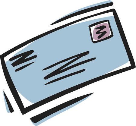 Addressed envelope clipart.