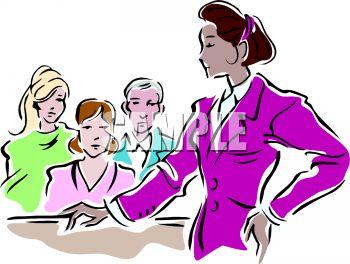 Female Lawyer Addressing the Jury.