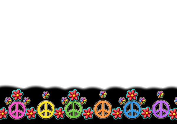 Peace Sign Borders Clip Art Free.