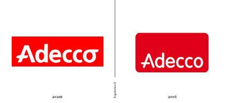 Adecco, l\'emploi change, les logos aussi.