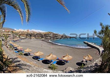 Stock Photo of panoramic view of Callao Salvaje Beach in Adeje.