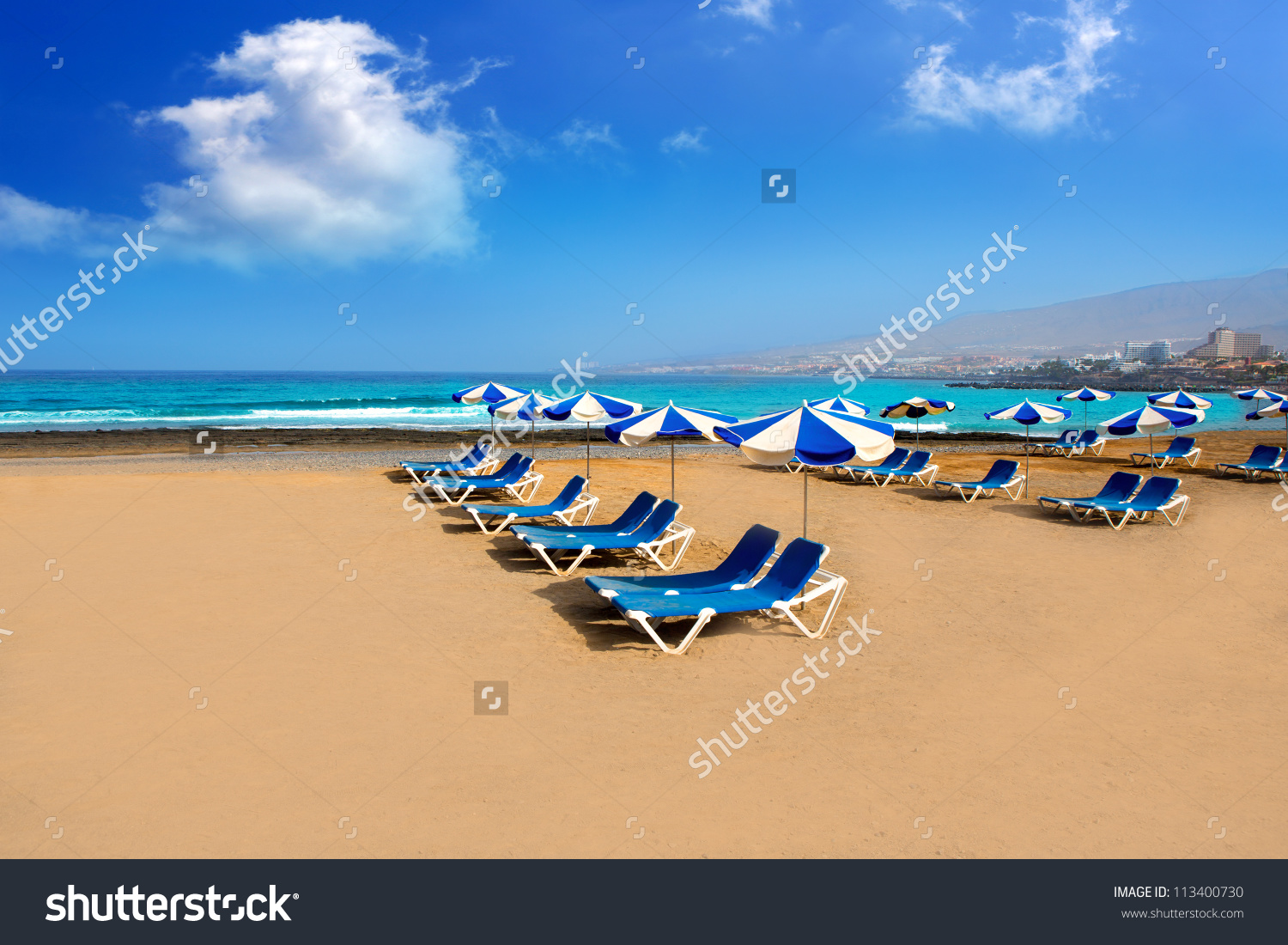 Adeje Arona Beach Troya Playa Las Americas In Tenerife South Stock.