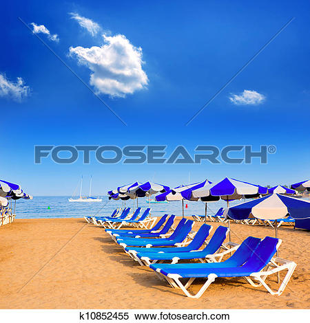 Stock Image of Beach Las vistas in Adeje Arona at Tenerife south.