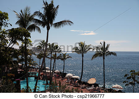 Picture of View on Las Cuevitas in Costa Adeje cost, Tenerife.