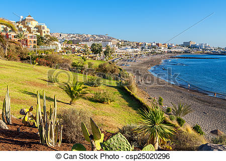 Stock Photographs of Costa Adeje. Tenerife, Canary Islands, Spain.