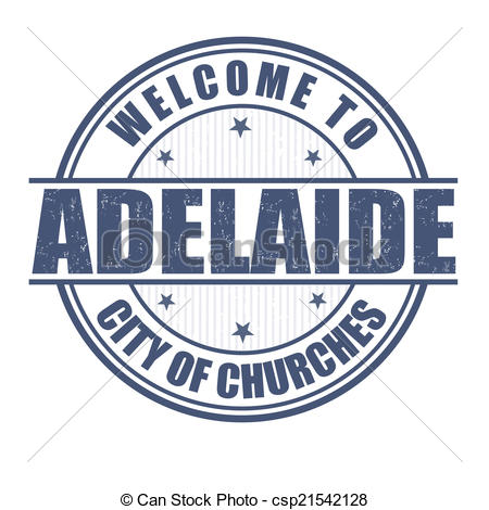 Vector Illustration of Welcome to Adelaide stamp.