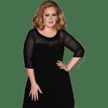 Adele transparent background image.