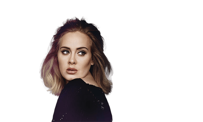 Adele Looking Right transparent PNG.