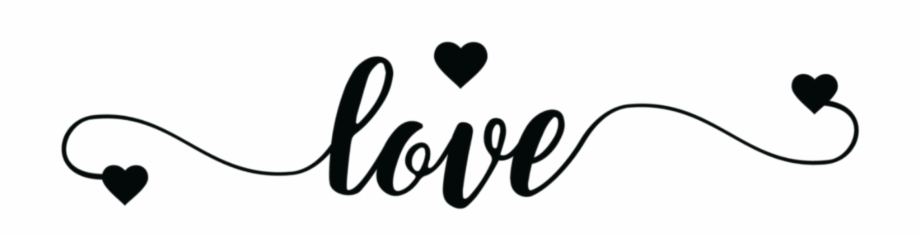 Love Black Tumblr Text Hearts Sticker Adesivos Collections.