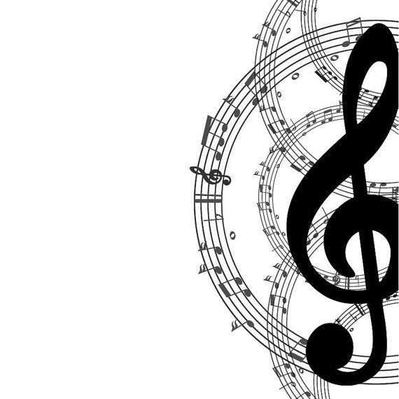 MUSIC key Digital Clipart music bacround digital print by.