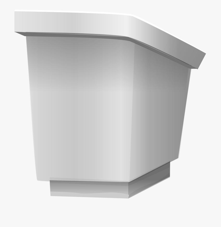 White Podium Vector Clipart Image.