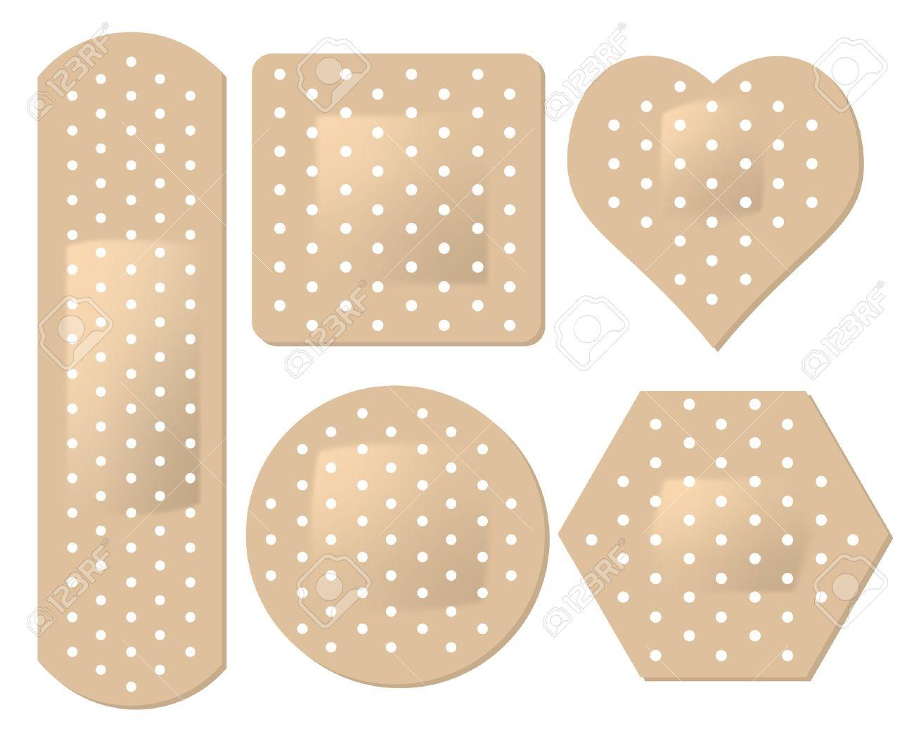 Adhesive Bandage Set Royalty Free Cliparts, Vectors, And Stock.