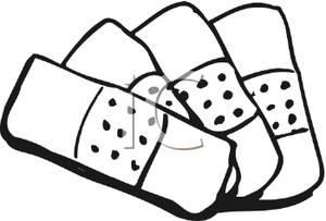 Image: Black and White Adhesive Bandages.