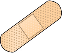 Bandage Black And White Clipart.