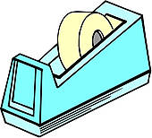 Clip Art of Adhesive tape dispenser k13259168.