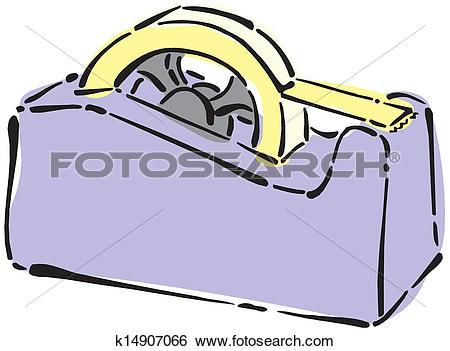Clip Art of adhesive tape k14907066.