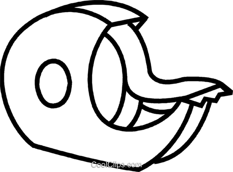tape dispenser Royalty Free Vector Clip Art illustration.