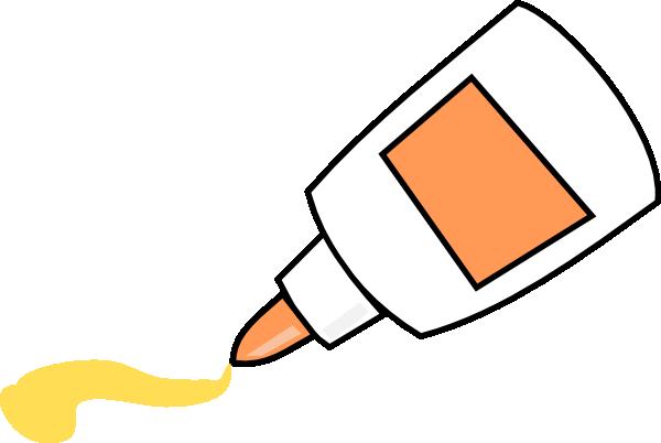 Cute Glue Bottle Clipart.