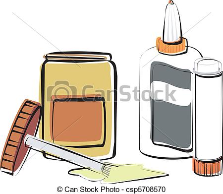 Vector Clipart of Adhesives.