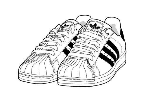 Adidas shoe clipart.