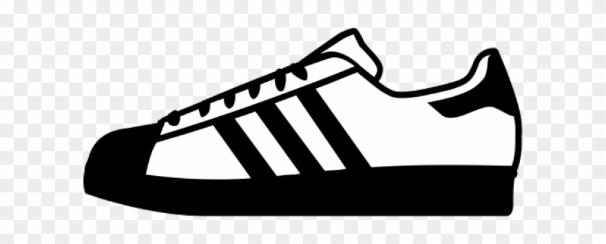 Adidas Shoes Clipart Black And White.