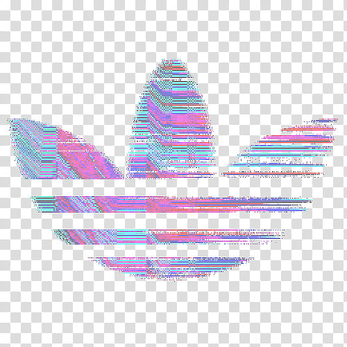 Aesthetic , multicolored lined adidas logo icon transparent.