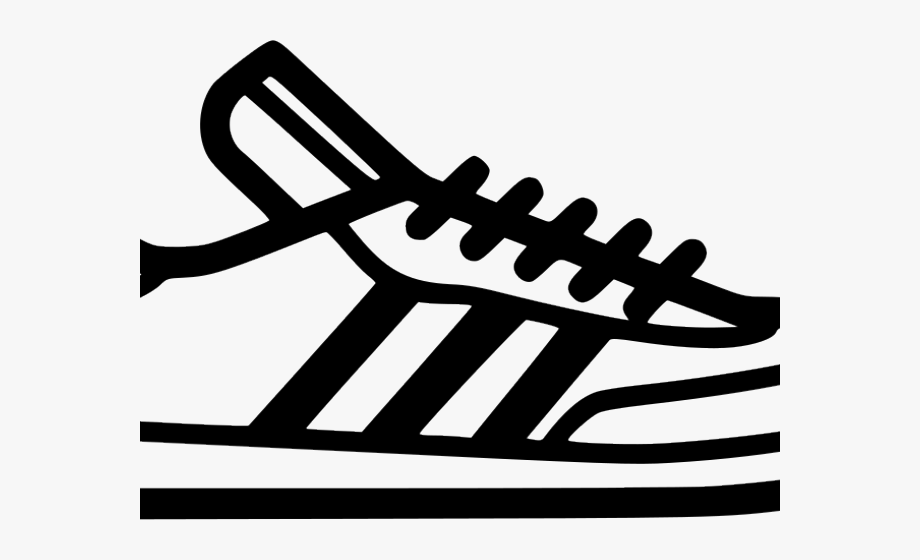 Adidas Shoes Clipart Icon.