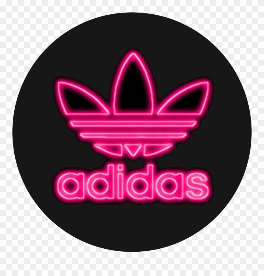 Adidas Neonadidas Neon Pink Tumblr Brand Png Tumblr Clipart.